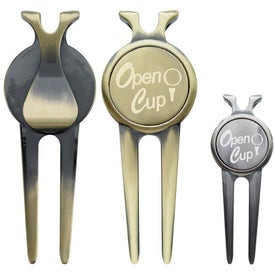 Deluxe Magnetic Divot Repair Tool with Ball Marker