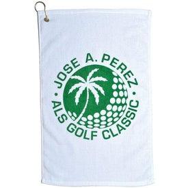 Diamond Collection Golf Towel (White)