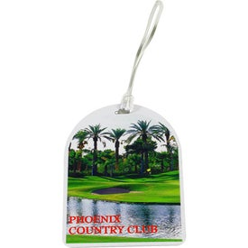 Digital Oval Top Golf Tags