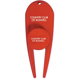 Divot Ball Marker with Your Slogan