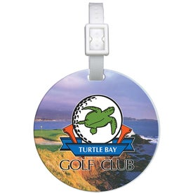 Domed Round Golf Bag Tag for Your Company
