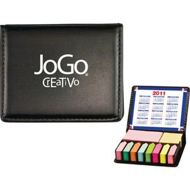 Flag and Sticky Note Caddie with Your Slogan