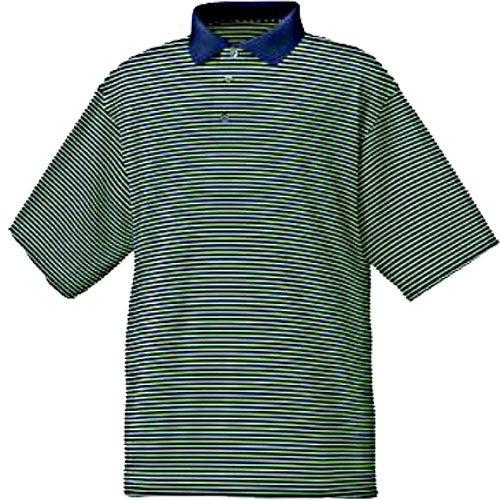 Footjoy prodry lisle stripe shirt custom golf accessories for Footjoy shirts with titleist logo