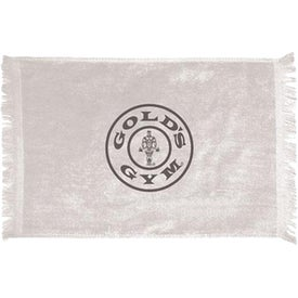 """Personalized Fringed Towel - 10.5"""" x 18"""""""