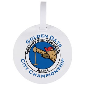 Gold Bond Round Bag Tag With Strap