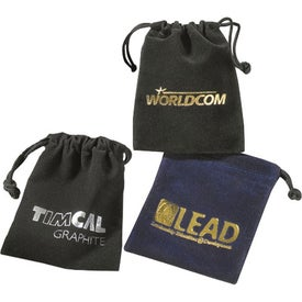 Custom Golf Items In Velour Bag with Tees and Marker