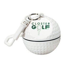 Golf Ball Sportsafe with Clip and Rain Poncho