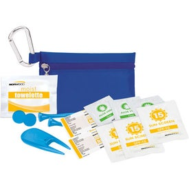 "Printed Golfer's Sun Protection Kit - 2 1/8"" Tee"