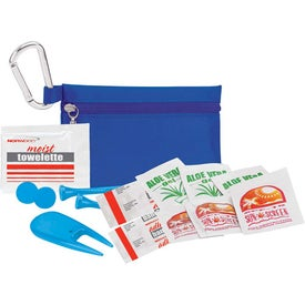 """Golfer's Sun Protection Kit - 3 1/4"""" Tee Printed with Your Logo"""