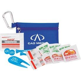"Golfer's Sun Protection Kit - 3 1/4"" Tee for Your Church"