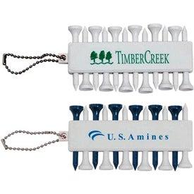 Branded Plastic Golf Tee Set