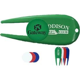 Advertising Green Repair Tool/Ball Marker Combo