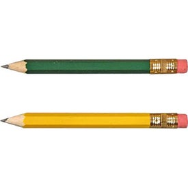 Hex Golf Pencils with Erasers Giveaways