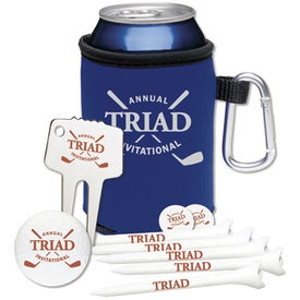 High Rollers KOOZIE Golf Event Kit - DT Solo with Your Slogan