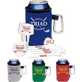High Rollers KOOZIE Golf Event Kit - NDX Heat with Your Slogan