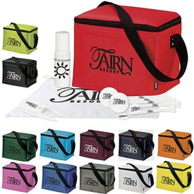 Monogrammed KOOZIE 6 Pack Cooler Golf Event Kit - UltraUltD