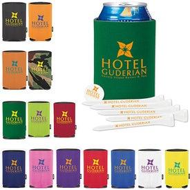 Company Collapsible KOOZIE Golf Tee Kit
