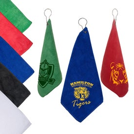 Microfiber Golf Towel with Grommet and Hook