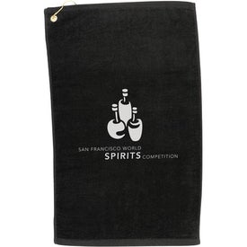 Midweight Terry Golf Towel Imprinted with Your Logo