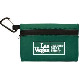 Monogrammed Neoprene Ditty Bag With Carabiner