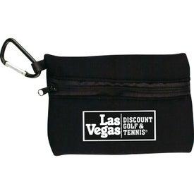 Branded Neoprene Ditty Bag With Carabiner
