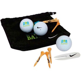 Nike Golf Valuables Pouch 3-Ball Kit for Customization