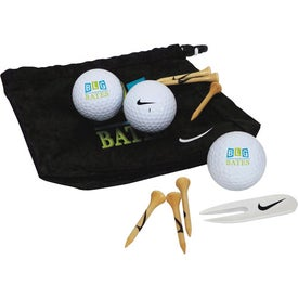 Branded Nike Golf Valuables Pouch 3-ball Kit