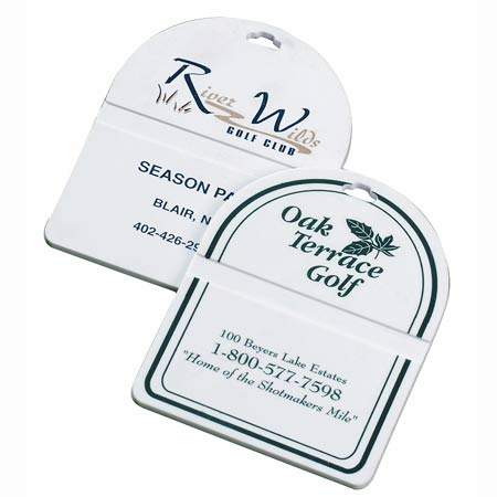 White Oval Top Golf Bag Tag