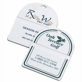 Oval Top Golf Bag Tag