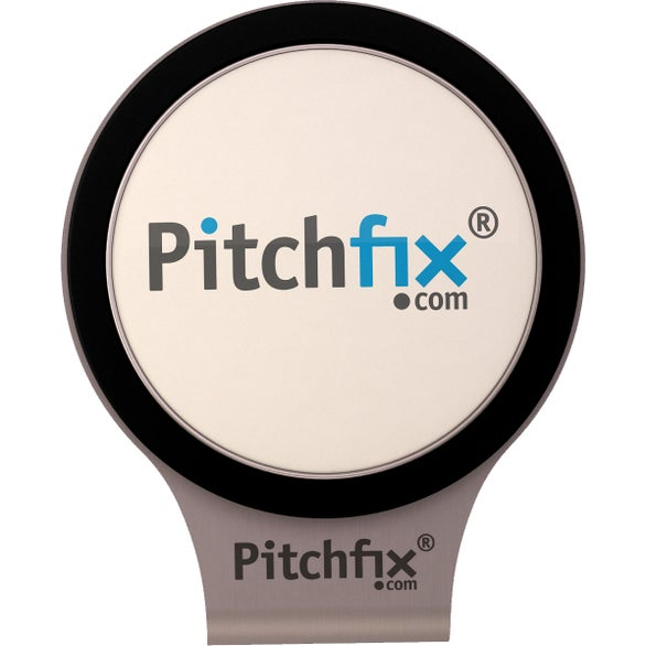 White / Black PitchFix Magnetic Ball Marker Hat Clip
