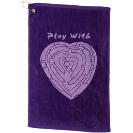 Logo Platinum Collection Golf Towel