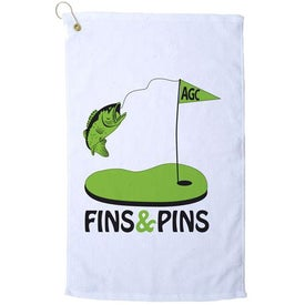 Platinum Collection Golf Towel (White)