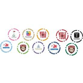 Poker Chip Ball Marker for Marketing