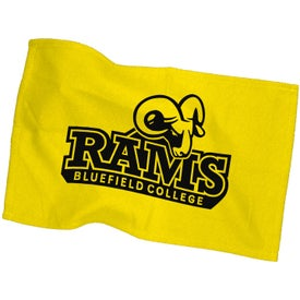 Rally Towel In Colors with Your Slogan