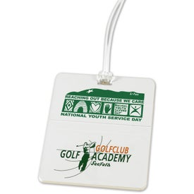 Rectangle Golf Bag Tags