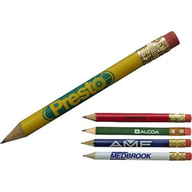 Promotional Round Golf Pencil with Eraser