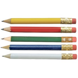 Customized Promotional Round Golf Pencil with Eraser