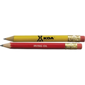 Personalized Promotional Round Golf Pencil with Eraser