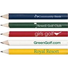 Imprinted Round Wooden Golf Pencil