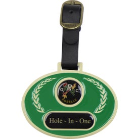Printed Stained Glass Golf Bag Tag