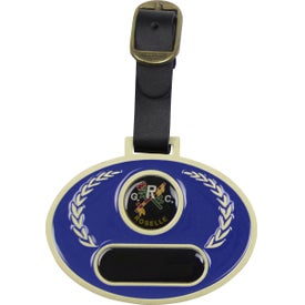 Logo Stained Glass Golf Bag Tag
