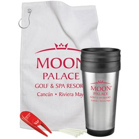 Steel Budget Travel Mug Golf Gift Set (14 Oz.)
