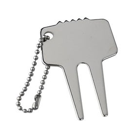 Steel Divot Tool with Chain