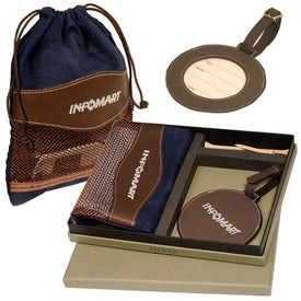 Personalized Woodbury Golf Pouch/Round Golf Tag Set
