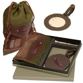 Woodbury Golf Pouch/Round Golf Tag Set for Your Church