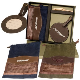 Logo Woodbury Golf Pouch/Round Golf Tag Set