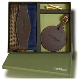 Woodbury Golf Pouch/Round Golf Tag Set Imprinted with Your Logo