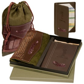 Personalized Woodbury Golf Pouch/Scorecard Set