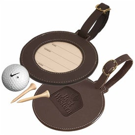 Logo Woodbury Round Golf Tag
