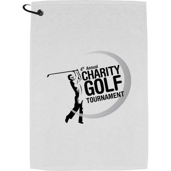 White Champions Golf Towel